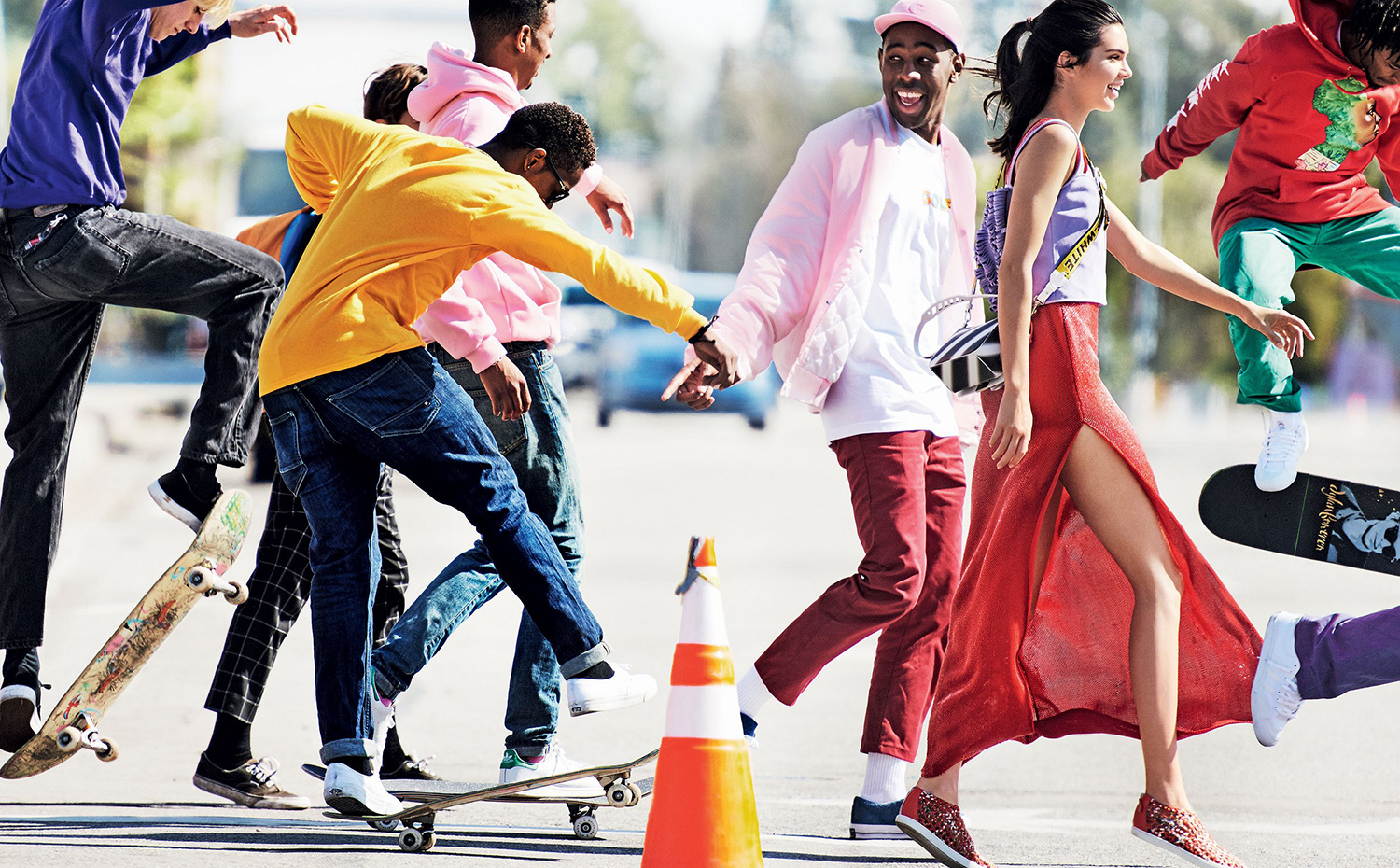 Tyler The Creator and Kendall Jenner For Vogue's 2017 January Issue