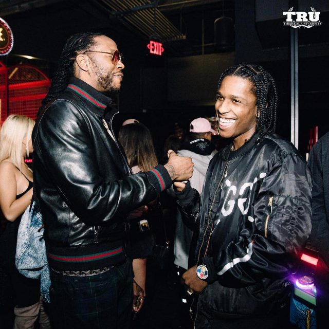 SPOTTED: 2 Chainz Hangs Out With A$AP Rocky Gucci'd Out