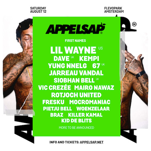 Amsterdam's Appelsap Festival Welcomes Lil Wayne, Dave, 67, And Siobhan Bell