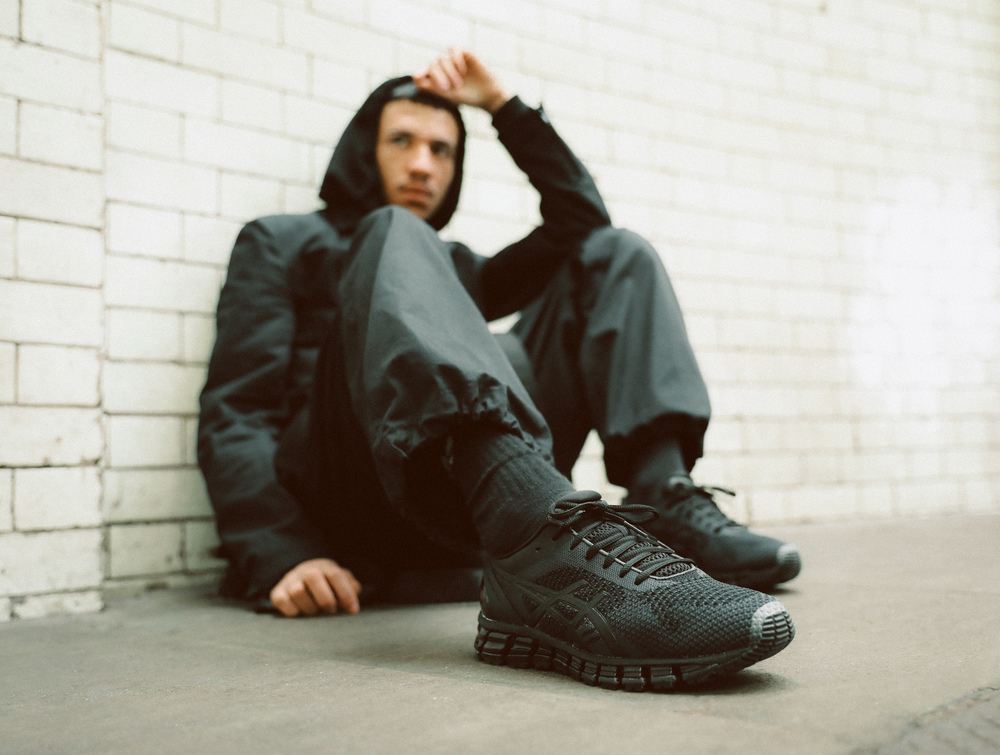 PAUSE x Foot Locker Europe: All-Black Asics GEL-Quantum 360 Knit