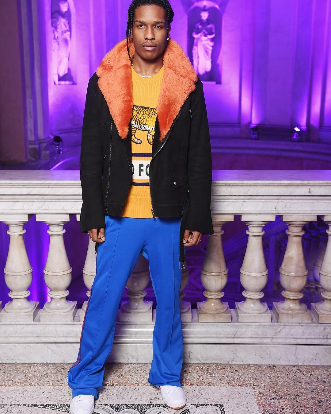 SPOTTED: A$AP Rocky In Midnight Studios And Adidas Sweatpants