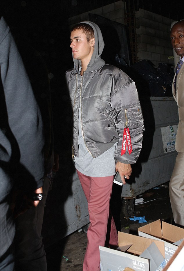 SPOTTED: Justin Bieber In Alpha Industries x Vetements Reversible Bomber Jacket