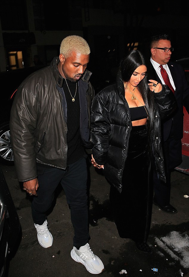 SPOTTED: Kanye West Out With Kim K On Valentine's Day In New Yeezy Runners