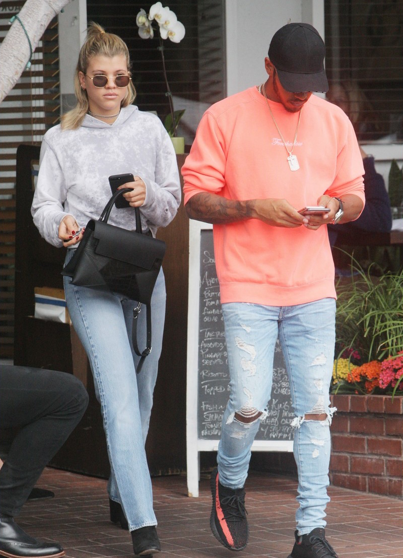 SPOTTED: Lewis Hamilton In Anti Social Social Club x Dover Street Market Sweater And Yeezy Boost 350