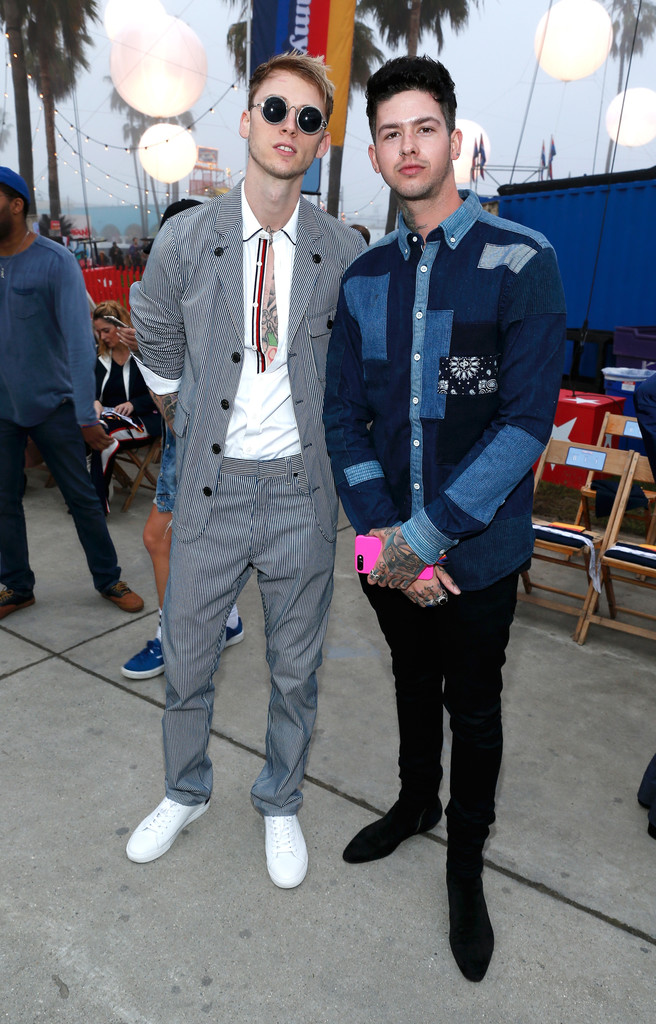 SPOTTED: Machine Gun Kelly In Tommy Hilfiger At The Tommyland Show