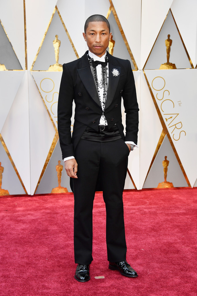 SPOTTED: Pharrell Williams At The Oscars In Chanel