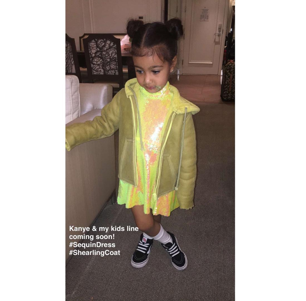 Kanye West And Kim Kardashian West Will Be Releasing A Kids Clothing Line