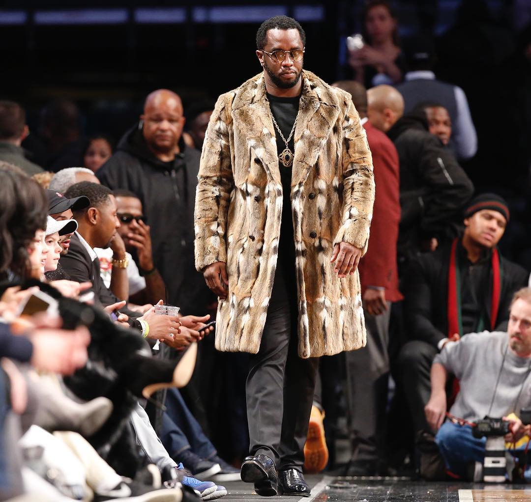 SPOTTED: Diddy In Gucci Fur Coat