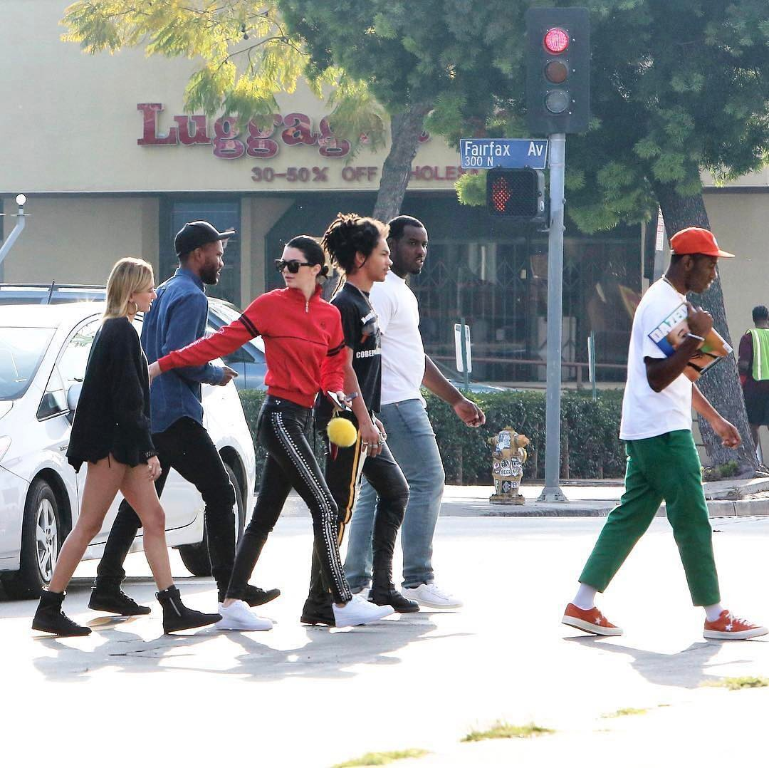 SPOTTED: Frank Ocean with Kendall Jenner and Hailey Baldwin