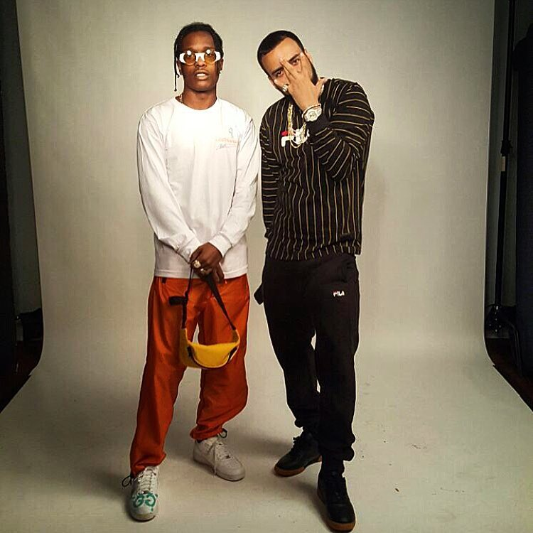 SPOTTED: French Montana In Fila Shirt, ASAP Rocky in Vlone T-Shirt and Gosha Rubchinskiy x Super Shades at SXSW