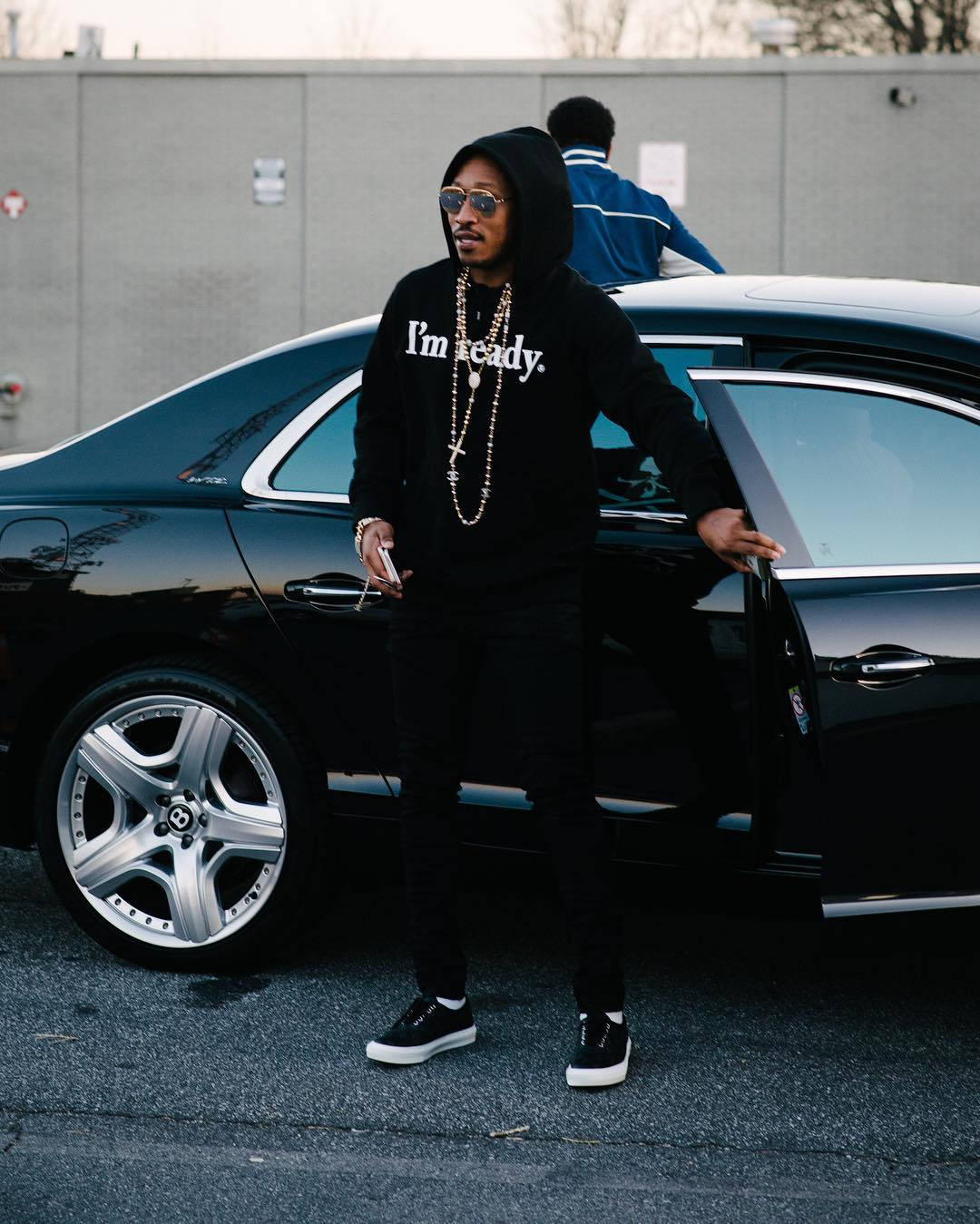 SPOTTED: Future In mastermind JAPAN Hoodie and Louis Vuitton Sneakers