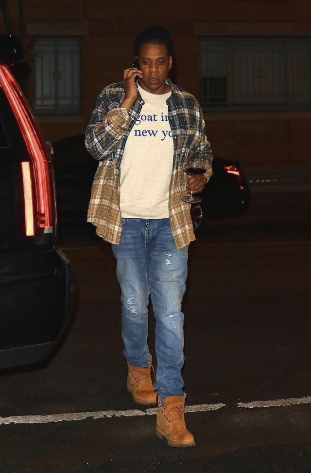 SPOTTED: Jay Z In Faith Connexion Shirt, Timberland Boots and Audemars Piguet Watch