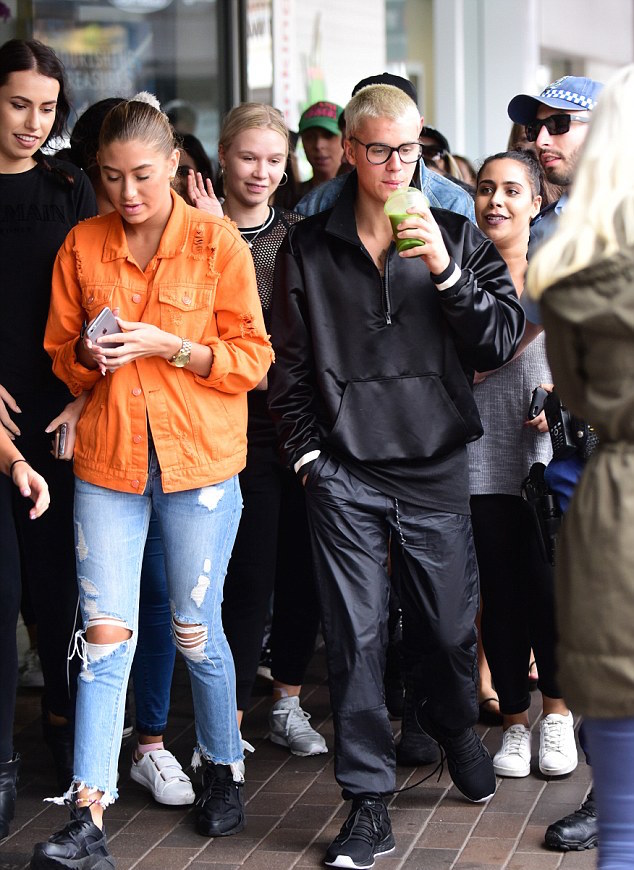 SPOTTED: Justin Bieber In Fear Of God Jacket, Adidas Pants and Air Jordan Sneakers