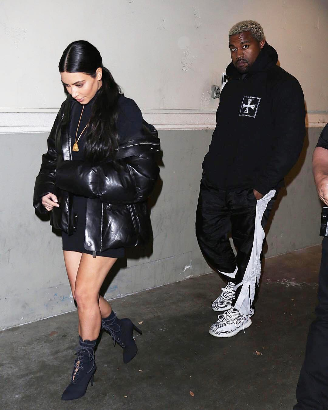 SPOTTED: Kanye West Seen With Kim Kardashian In Enfants Riches Deprime and Yeezy Boost 350 V2s