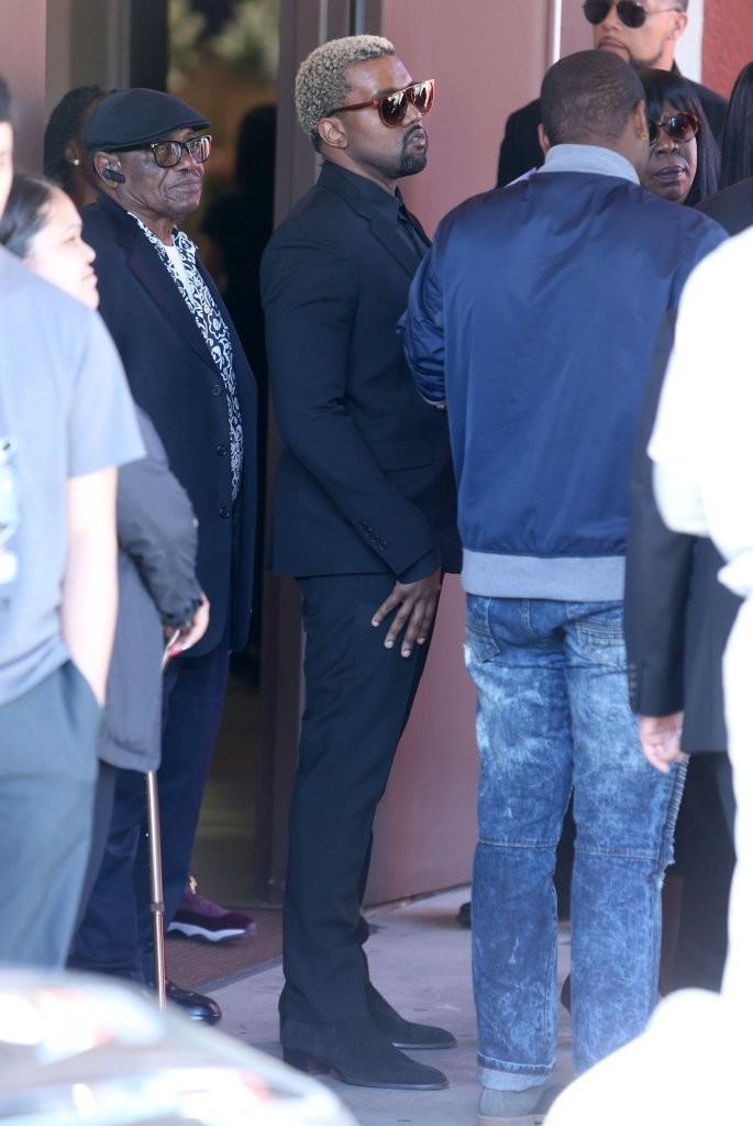 Kanye West Retrieves the Rosewood Movement Attire For A Funeral