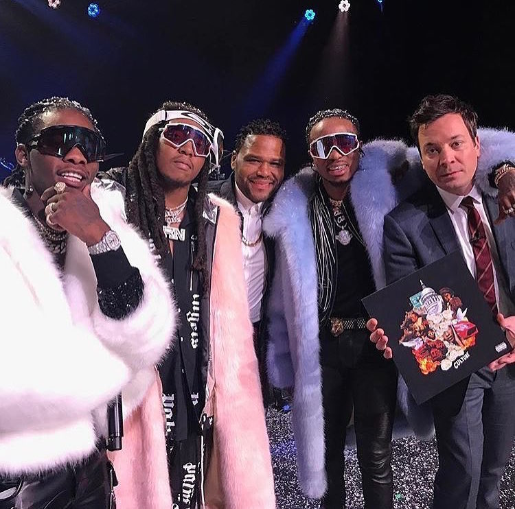 Migos' Quavo, Offset, and Takeoff Performed On NBC's Jimmy Fallon