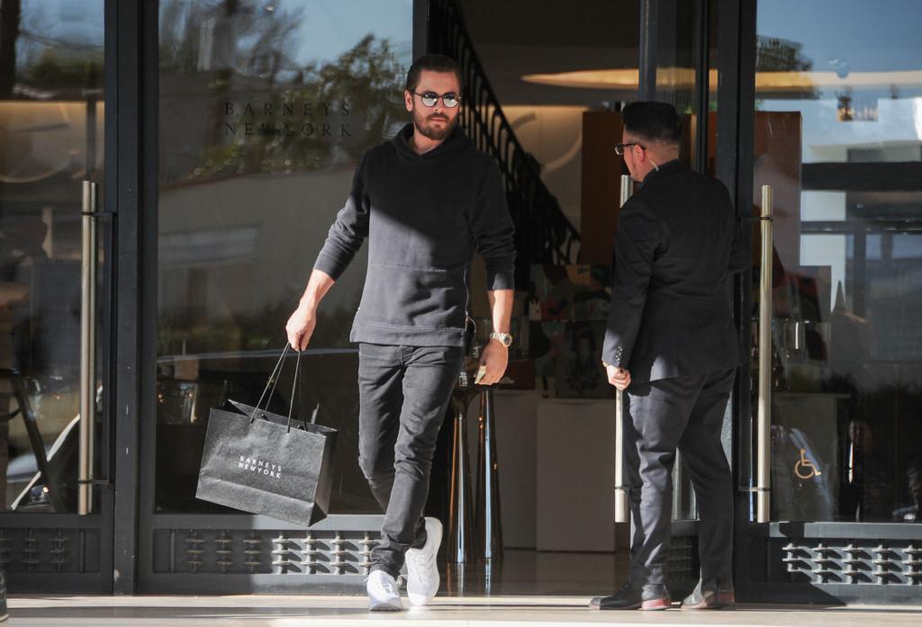SPOTTED: Scott Disick In John Elliott Villain Hoodie And Adidas Sneakers