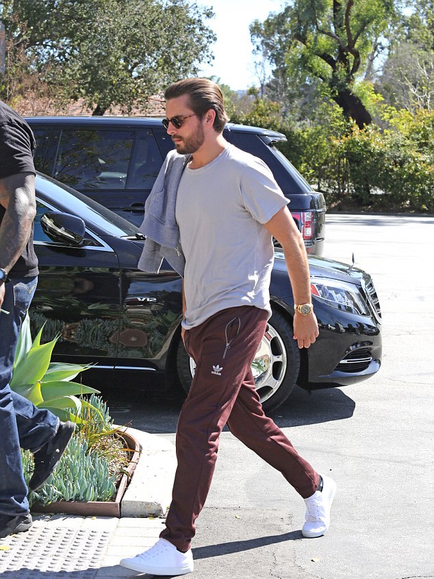SPOTTED: Scott Disick In Adidas Pants And Common Projects Sneakers