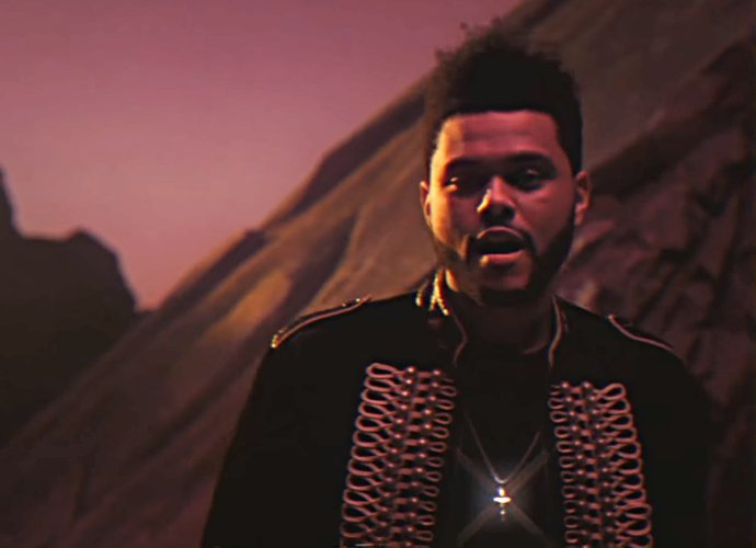 """SPOTTED: The Weeknd In """"I Feel It Coming"""" Music Video In Saint Laurent Jacket"""