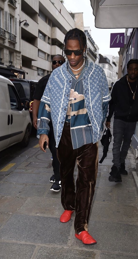 SPOTTED: Travis Scott Decked Out Head-To-Toe in Louis Vuitton