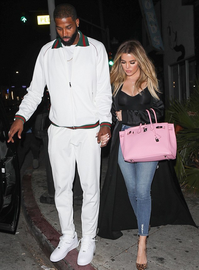 SPOTTED: Tristan Thompson With Khloe Kardashian In Gucci Tracksuit And Nike Sneakers