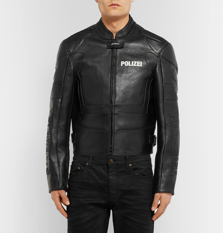 Would You Spend £3920 On This Vetements Polizei Leather Jacket?