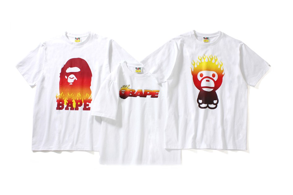 "BAPE Announced ""Flame Tee"" Collection"