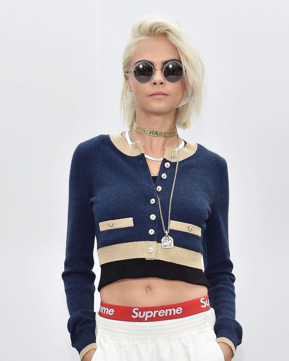 SPOTTED: Cara Delevingne in Men's Supreme Boxers and Chanel
