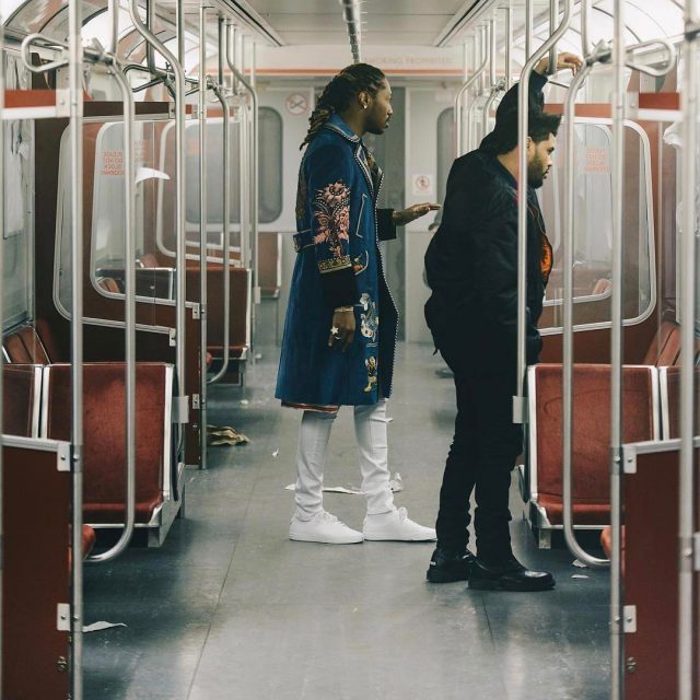 SPOTTED: Future in Gucci Coat and The Weeknd in Vetements x Dr Martens Boots