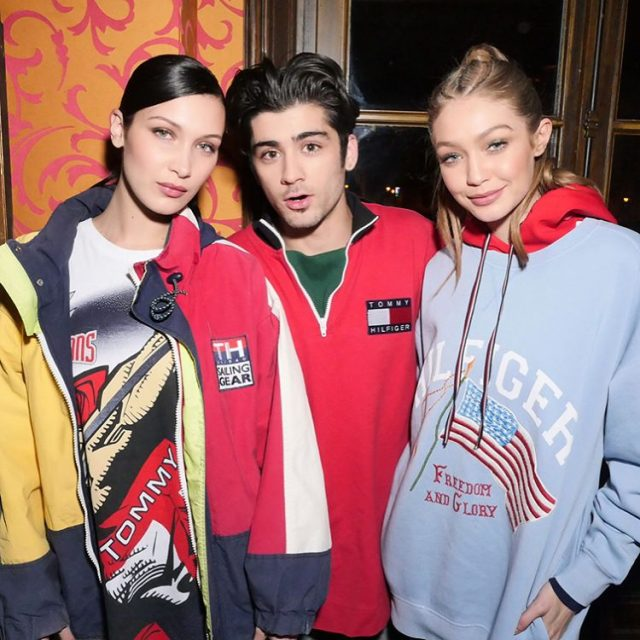 SPOTTED: Zayn Malik, Gigi Hadid and Bella Hadid in Tommy Hilfiger