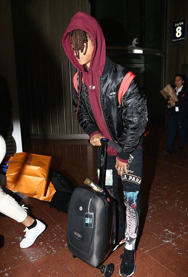 SPOTTED: Jaden Smith in MSFTSrep Jacket, Hoodie and Adidas Sneakers