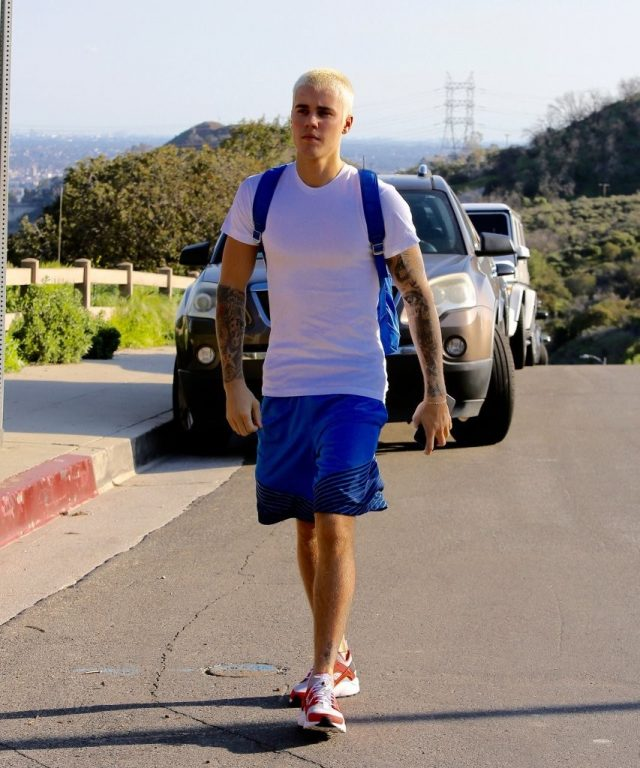 SPOTTED: Justin Bieber in Nike Air Huarache Sneakers and Kenzo Backpack