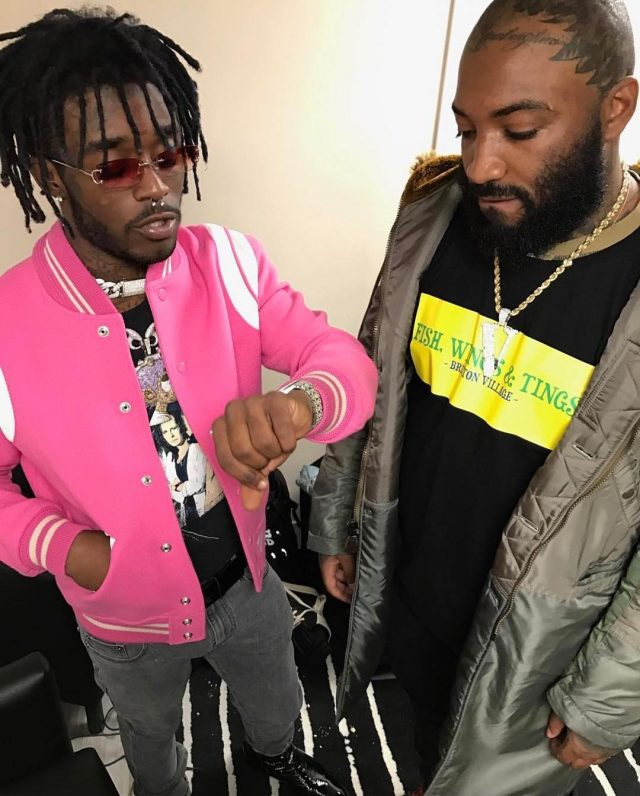 SPOTTED: Lil Uzi Vert in Saint Laurent Teddy Pink Jacket