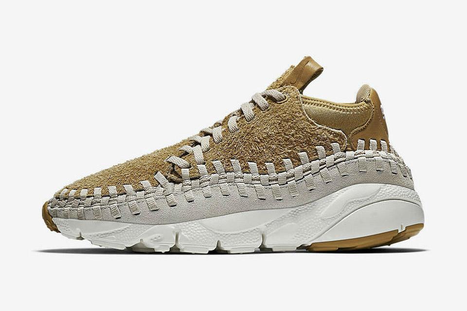 Nike Footscape Woven Chukka In Flat Gold