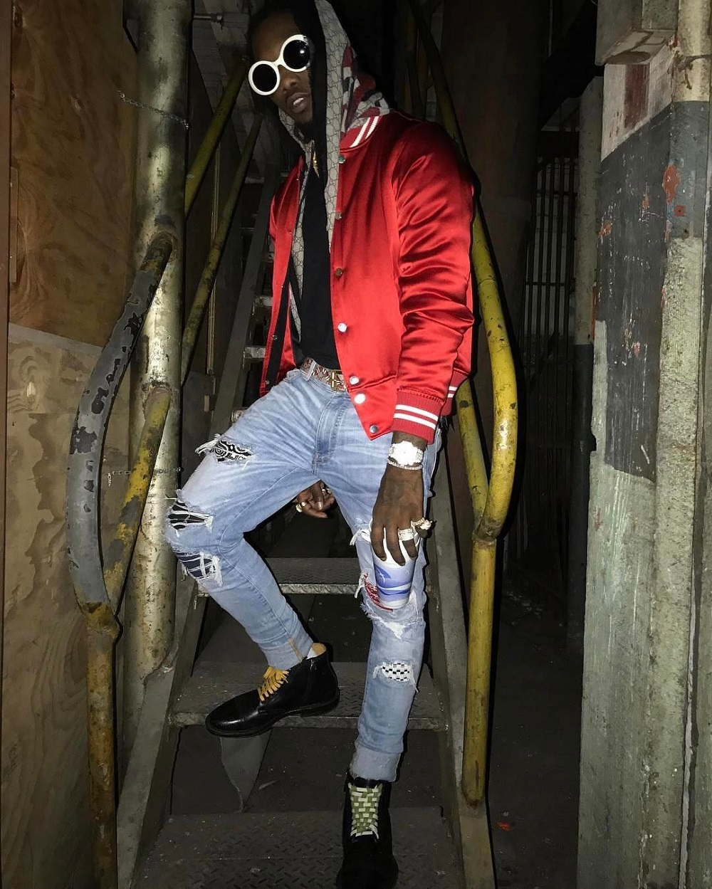 SPOTTED: Migos' Offset in Amiri and Gucci