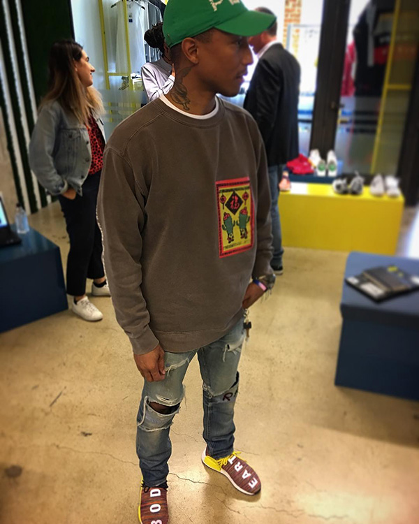 """Pharrell Previews a Pair of Previously Unseen """"Human Race"""" NMDs"""