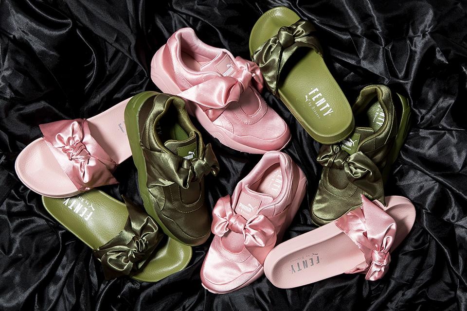 Rihanna's FENTY PUMA Bow Shoe and Slider