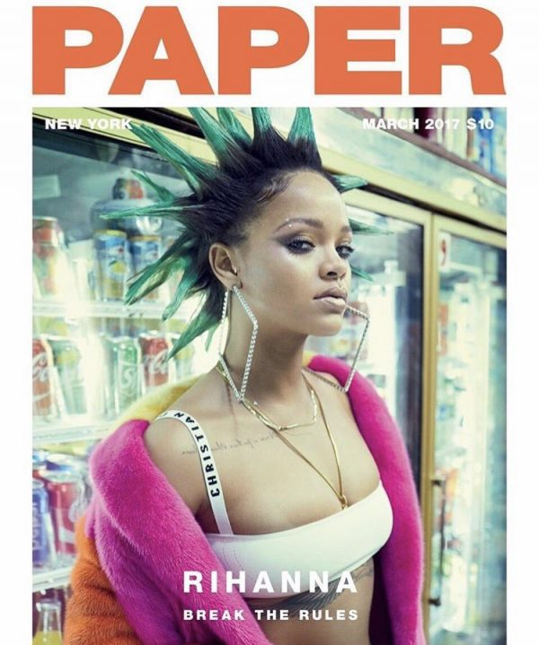 """Rihanna Covers PAPER Magazine For Their March Issue """"Break The Rules"""""""