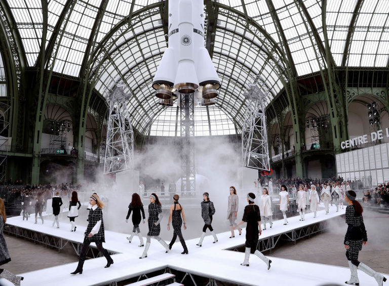 Karl Lagerfeld on Designing Chanel's Space-Inspired Fashion Show