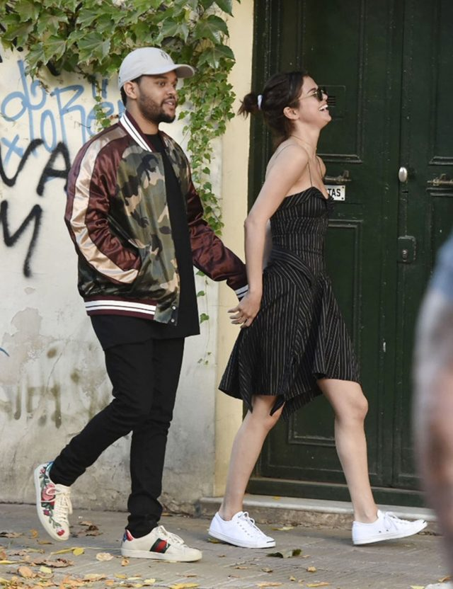 SPOTTED: The Weeknd in Valentino Jacket and Gucci Sneakers