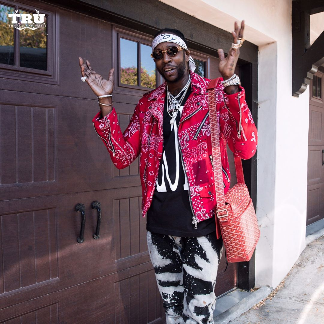 SPOTTED: 2 Chainz in Amiri, Vlone and Fear of God with his Squad at Coachella