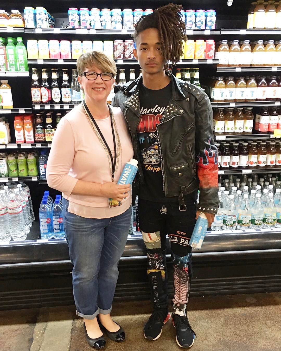 SPOTTED: Jaden Smith In Harley Davidson T-shirt and Adidas NMD Sneakers