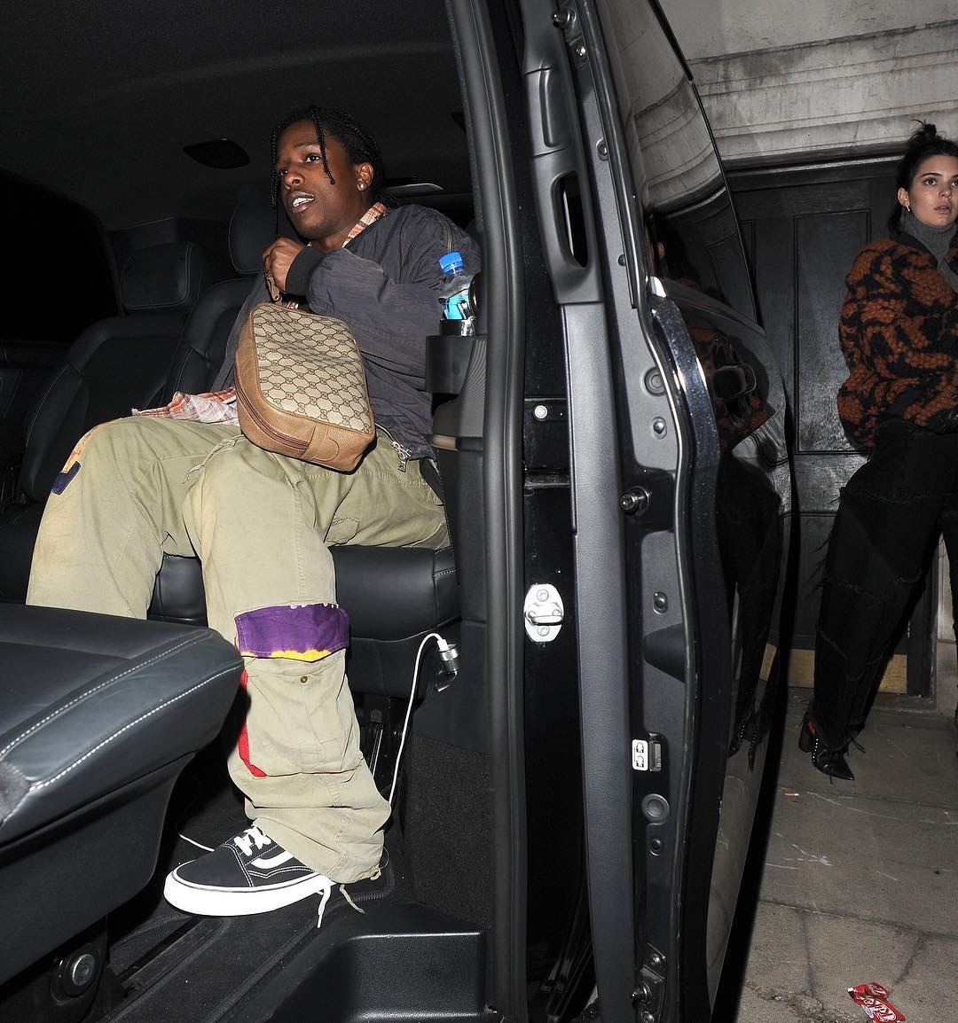 SPOTTED: A$AP Rocky In Vans Sneakers Carrying A Gucci Bag