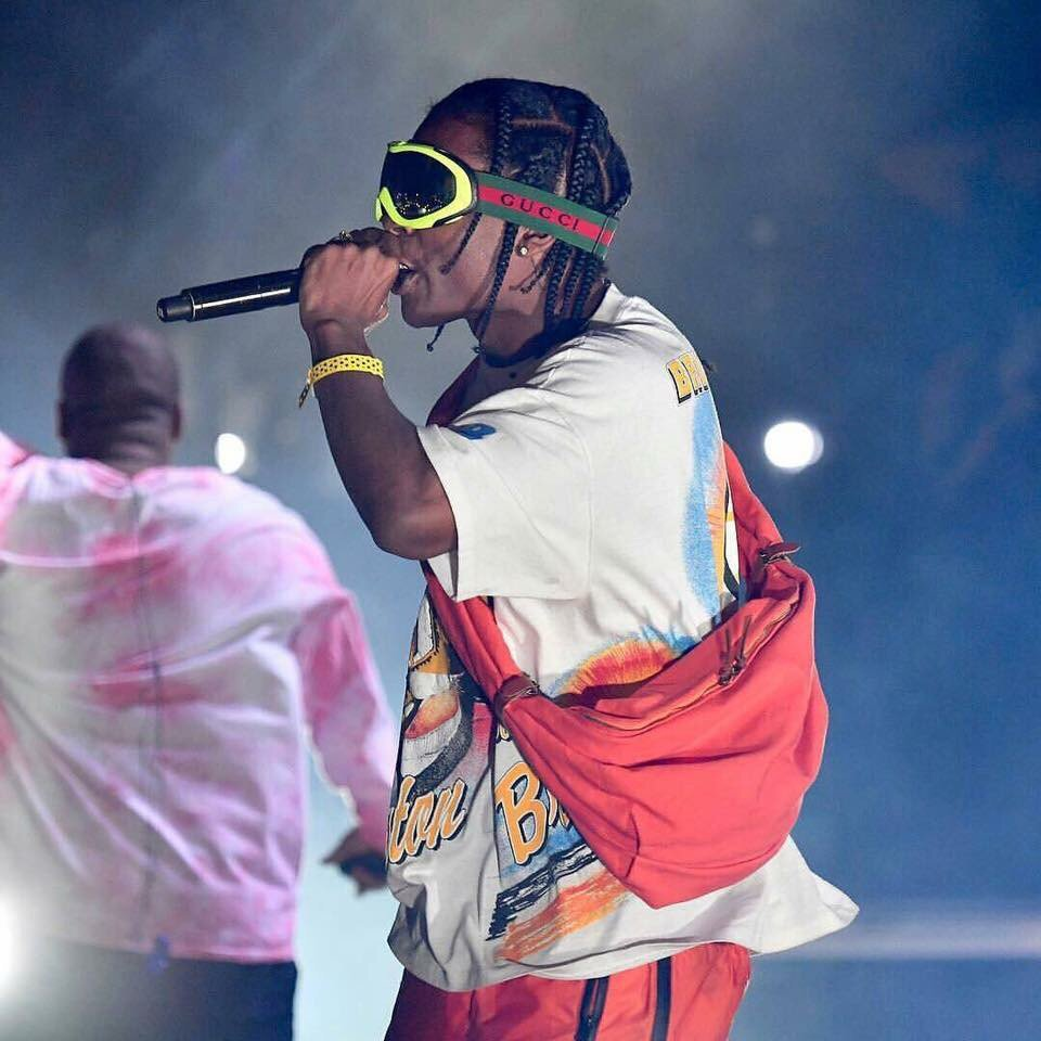 SPOTTED: ASAP Rocky in Gucci Google Glasses And Balenciaga Bag