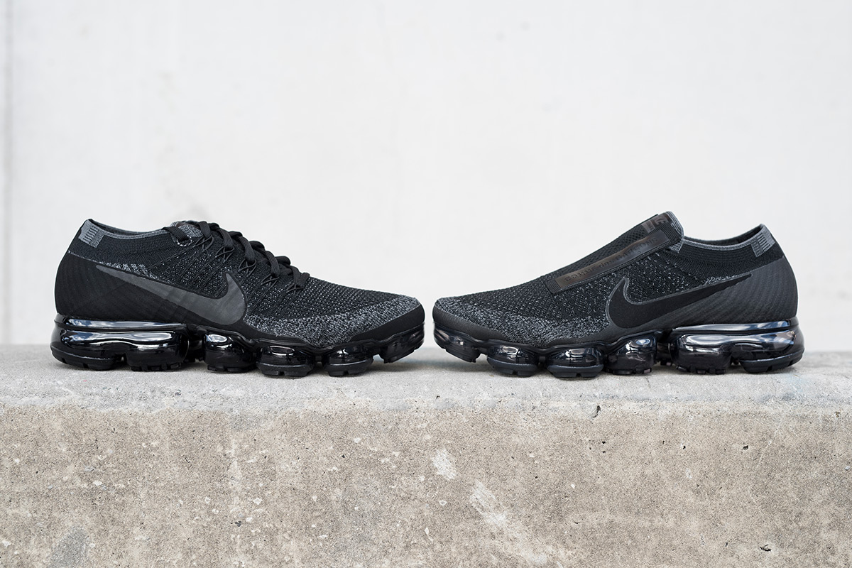 Comparing The COMME des GARÇONS x NikeLab Air VaporMax To The All-Black Nike Air VaporMax