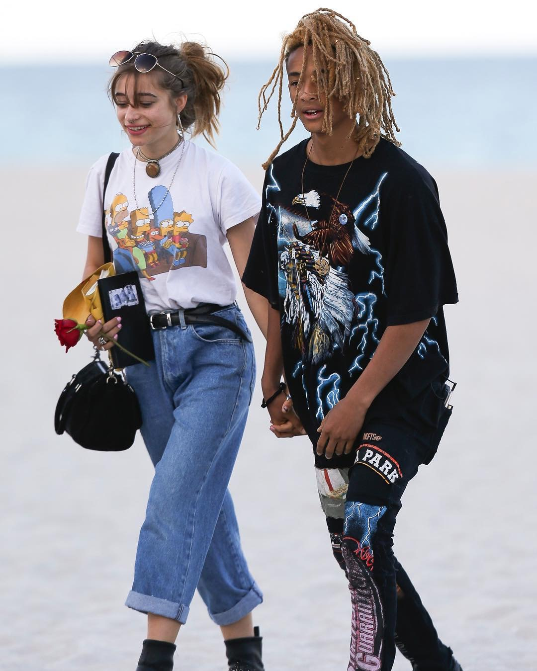 SPOTTED: Jaden Smith In MSFTSrep Jeans and Adidas NMD Sneakers