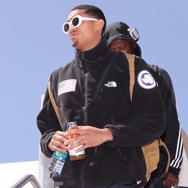 SPOTTED: Jordan Clarkson in Supreme x The North Face Jacket