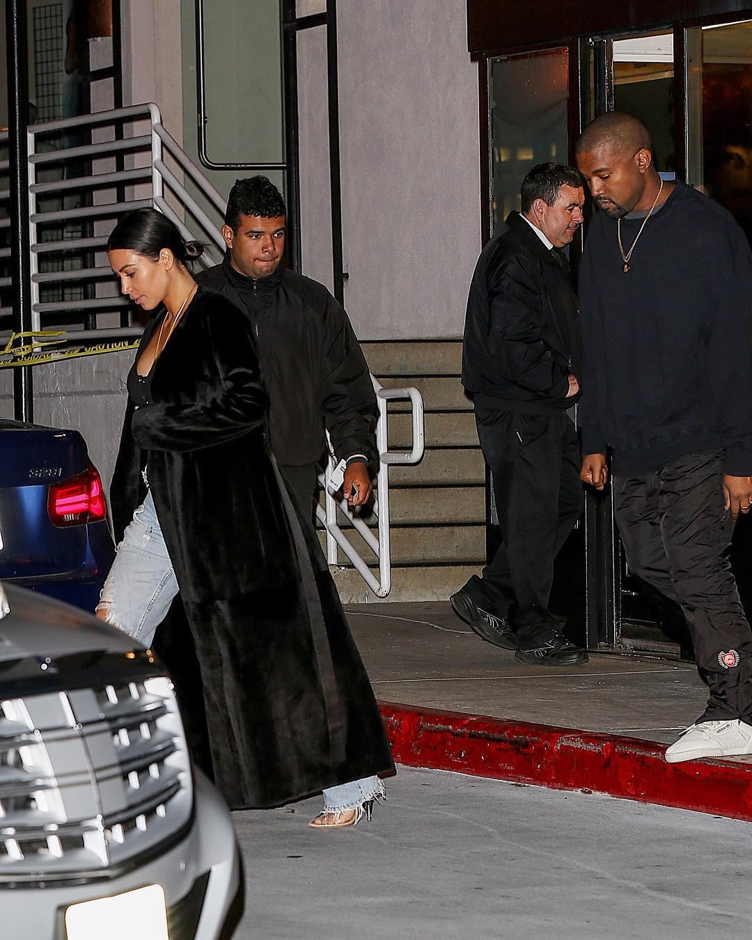 SPOTTED: Kanye West In Adidas Calabasas Yeezy Pants And Sneakers