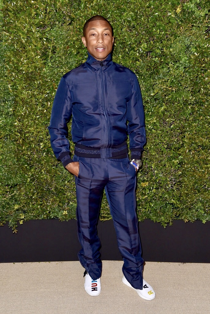 SPOTTED: Chanel Track Suit and Pharrell x Adidas NMD Human Race Sneakers