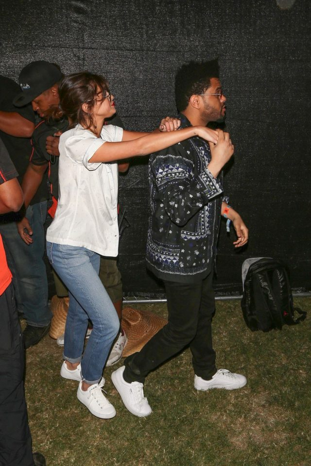 SPOTTED: The Weeknd at Coachella Wearing a Sacai Shirt and Puma Sneakers